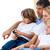 affettuoso · famiglia · guardare · tv · giovani · home - foto d'archivio © wavebreak_media
