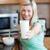 gelukkig · vrouw · glas · melk · gezonde - stockfoto © wavebreak_media