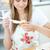 Portrait of a beautiful woman preparing a cake in the kitchen  stock photo © wavebreak_media