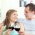 retrato · sorridente · casal · vinho · tinto · óculos - foto stock © wavebreak_media