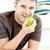 笑みを浮かべて · 白人 · 男 · リンゴ · 見える - ストックフォト © wavebreak_media