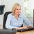 çalışma · kadın · ekran · ofis · yüz · çalışmak - stok fotoğraf © wavebreak_media