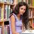 Studenten · halten · Buch · Bibliothek · Frau · blau - stock foto © wavebreak_media