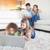sevimli · kardeşler · dizüstü · bilgisayar · kullanıyorsanız · birlikte · anne · ev - stok fotoğraf © wavebreak_media
