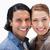 sorridente · casal · em · pé · fechar · juntos · branco - foto stock © wavebreak_media