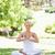 genç · kadın · yoga · pozisyon · oturma · çim · güzellik - stok fotoğraf © wavebreak_media