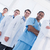 portrait of doctors standing in a row at hospital stock photo © wavebreak_media