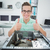 souriant · technicien · travail · brisé · ordinateur - photo stock © wavebreak_media
