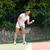 teniszező · felnőtt · nő · játszik · tenisz · stúdiófelvétel - stock fotó © wavebreak_media