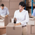 almacén · trabajadores · hasta · cajas · grande - foto stock © wavebreak_media