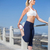Fit blonde stretching on the pier stock photo © wavebreak_media