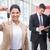 smiling saleswoman holding a customer car key stock photo © wavebreak_media