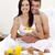aandachtig · man · steeg · vrouw · slaapkamer · bloemen - stockfoto © wavebreak_media