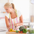 donna · cuoco · cucina · sorriso · faccia - foto d'archivio © wavebreak_media