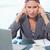 肖像 · 動揺 · 女性実業家 · オフィス · 作業 · ペン - ストックフォト © wavebreak_media