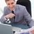 улыбаясь · бизнесмен · счастливым · рынке · исследований - Сток-фото © wavebreak_media