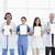 vier · lächelnd · medizinischen · Menschen · stehen · Fenster - stock foto © wavebreak_media