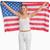 wesoły · amerykańską · flagę · biały · banderą · czerwony - zdjęcia stock © wavebreak_media