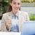 gelukkig · zakenvrouw · koffie · cafe · portret · vrouw - stockfoto © wavebreak_media