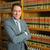avukat · ayakta · kitaplık · portre · erkek - stok fotoğraf © wavebreak_media