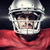 composite image of confident american football player in red jer stock photo © wavebreak_media