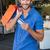 笑みを浮かべて · 男 · ショッピングバッグ · モール · 顧客 · 男性 - ストックフォト © wavebreak_media