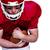 americano · futbolista · ejecutando · pelota · blanco · deporte - foto stock © wavebreak_media