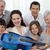 Portrait of family holding a guitar in living-room stock photo © wavebreak_media
