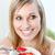 zachwycony · kobieta · jedzenie · musli · owoce · posiedzenia - zdjęcia stock © wavebreak_media