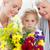 família · flores · casa · mulher · cara · beleza - foto stock © wavebreak_media