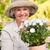glimlachende · vrouw · tuin · bloem · voorjaar · zomer · groene - stockfoto © wavebreak_media
