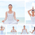 collage of a young woman practicing yoga stock photo © wavebreak_media
