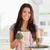 vonzó · nő · zöldségek · áll · konyha · nő · kezek - stock fotó © wavebreak_media