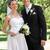 newly wed couple standing in garden stock photo © wavebreak_media