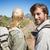caminhadas · casal · sorridente · câmera · montanha - foto stock © wavebreak_media