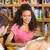 kolegium · studentów · praca · domowa · biblioteki · grupy · kobieta - zdjęcia stock © wavebreak_media