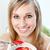 szczęśliwy · kobieta · jedzenie · musli · owoce · posiedzenia - zdjęcia stock © wavebreak_media