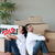 Smiling couple with unpacking boxes moving to a new house stock photo © wavebreak_media