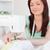 gyönyörű · női · varrógép · nappali · nő · munka - stock fotó © wavebreak_media