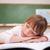 schoolmeisje · slapen · bureau · klas · gezicht · kind - stockfoto © wavebreak_media