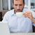 ernstig · zakenman · drinken · koffie · geconcentreerde · jonge - stockfoto © wavebreak_media