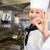 gülen · genç · kadın · tamam · imzalamak · beyaz - stok fotoğraf © wavebreak_media
