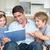 boldog · család · digitális · tabletta · nappali · otthon - stock fotó © wavebreak_media