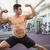 sin · camisa · jóvenes · muscular · hombre · músculos · blanco - foto stock © wavebreak_media