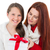 mother and daughter with christmas gift stock photo © wavebreak_media
