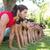 fitness group planking in park stock photo © wavebreak_media