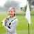 Lady · гольфист · флаг · туманный · день - Сток-фото © wavebreak_media