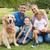 szczęśliwą · rodzinę · psa · parku · portret · dziewczyna · człowiek - zdjęcia stock © wavebreak_media
