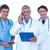 zagęszczony · mężczyzna · lekarz · cyfrowe · tabletka · biały · lekarza - zdjęcia stock © wavebreak_media