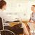 niepełnosprawnych · dorosły · kobieta · wózek · pracy · laptop - zdjęcia stock © wavebreak_media